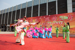 Chinese traditional  folk dance Royalty Free Stock Images