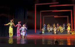 Chinese traditional folk instrumental concert. CHENGDU - JUN 17: chinese traditional folk instrumental concert performance on stage at shengge theater.Jun 17 Royalty Free Stock Images