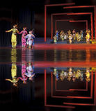Chinese traditional folk instrumental concert performance. CHENGDU - JUN 17: chinese traditional folk instrumental concert performance on stage at shengge Stock Images