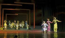 Chinese traditional folk instrumental concert performance. CHENGDU - JUN 17: chinese traditional folk instrumental concert performance on stage at shengge Royalty Free Stock Image