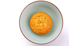 Chinese traditional food--Almond and peanuts moon cakes Stock Photo