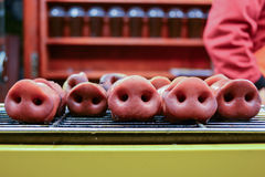 Chinese traditional food - BBQ Nose of Pig Royalty Free Stock Images