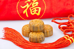 Chinese traditional food--Moon cake Stock Photos