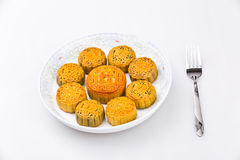 Chinese traditional food Moon cake Royalty Free Stock Image