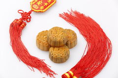 Chinese traditional food--Moon cake Royalty Free Stock Images