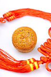 Chinese traditional food--Moon cake Royalty Free Stock Photo