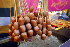 Chinese traditional food: roast meat balls Royalty Free Stock Photography