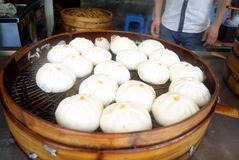 Chinese traditional food steamed stuffed bun Stock Images