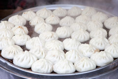 Steamed stuffed bun in market Stock Photo