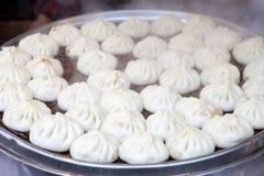Steamed stuffed bun in market Stock Photo