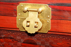 Chinese traditional furniture locks Stock Image