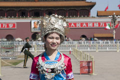 Girl with Chinese traditional Garb stock photos