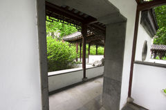 Chinese traditional garden. Door at day Royalty Free Stock Image