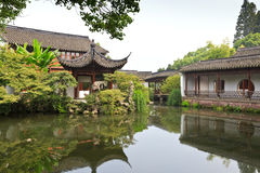 Chinese traditional garden building in Hangzhou Royalty Free Stock Images