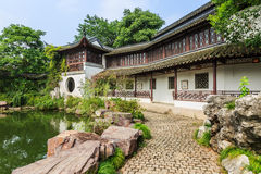 The Chinese traditional garden landscape Stock Photos