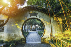Chinese traditional garden at Suzhou in China Royalty Free Stock Image