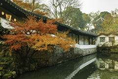 Chinese traditional garden at Suzhou in China Stock Image