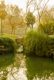 Chinese traditional garden at Suzhou in China Stock Photography