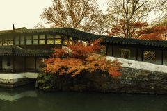 Chinese traditional garden at Suzhou in China Stock Photo