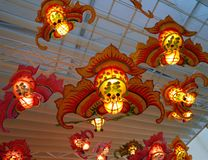 Chinese Traditional Handmade Lanterns stock image