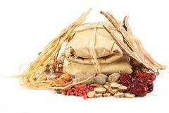 Chinese Traditional Herbal Medicine Royalty Free Stock Images