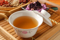 Chinese traditional herbal tea Royalty Free Stock Image