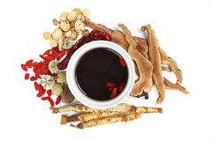 Chinese traditional herbs and medicine Royalty Free Stock Photography