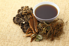 Chinese traditional herbs medicine drink Stock Image