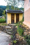 Chinese Traditional Homes Courtyard. The ancient architectures are located at Yongding Country of Fujian Province in China. Fujian Tulou is one of the 36 World royalty free stock image