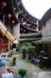 Chinese Traditional Homes Courtyard. The ancient architectures are located at Yongding Country of Fujian Province in China. Fujian Tulou is one of the 36 World royalty free stock images