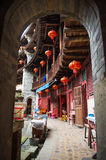Chinese Traditional Homes Courtyard. The ancient architectures are located at Yongding Country of Fujian Province in China. Fujian Tulou is one of the 36 World royalty free stock photo