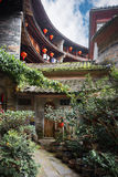 Chinese Traditional Homes Courtyard. The ancient architectures are located at Yongding Country of Fujian Province in China. Fujian Tulou is one of the 36 World royalty free stock photos