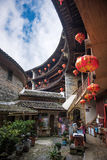 Chinese Traditional Homes Courtyard. The ancient architectures are located at Yongding Country of Fujian Province in China. Fujian Tulou is one of the 36 World stock photos