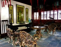 Chinese traditional house, artistic details and design stock image