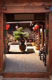 Chinese traditional house courtyard Stock Image