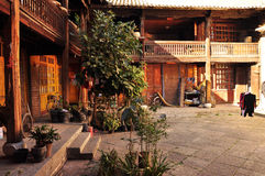 Chinese traditional house courtyard Royalty Free Stock Photo