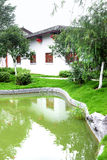 Chinese traditional house with pool Stock Image