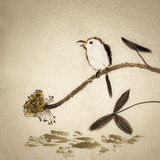 Chinese traditional ink painting Stock Photos