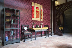 Chinese traditional interior architecture Royalty Free Stock Photo