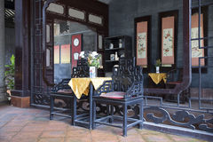 Chinese traditional interior architecture Royalty Free Stock Photos