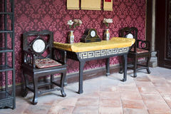 Chinese traditional interior architecture Stock Photography