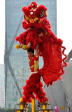 Chinese traditional lion dance Royalty Free Stock Images