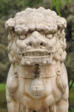 Chinese traditional lion sculpture Royalty Free Stock Images