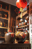 Chinese traditional liquor store Stock Images
