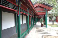 Chinese traditional long corridor Stock Images