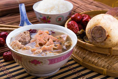 Chinese traditional lotus root soup Royalty Free Stock Images