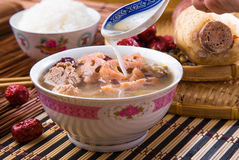 Chinese traditional lotus root soup Stock Image