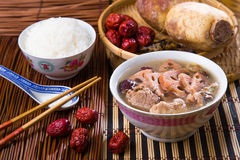 Chinese traditional lotus root soup Royalty Free Stock Image