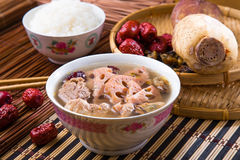 Chinese traditional lotus root soup Stock Photo