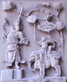 Chinese traditional marble relief Royalty Free Stock Images